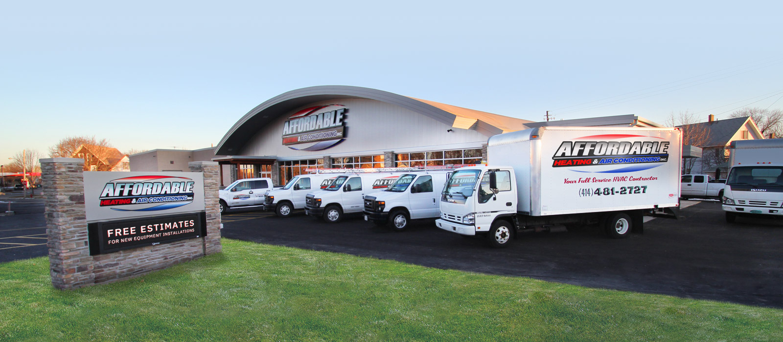 affordable heating - building and service trucks
