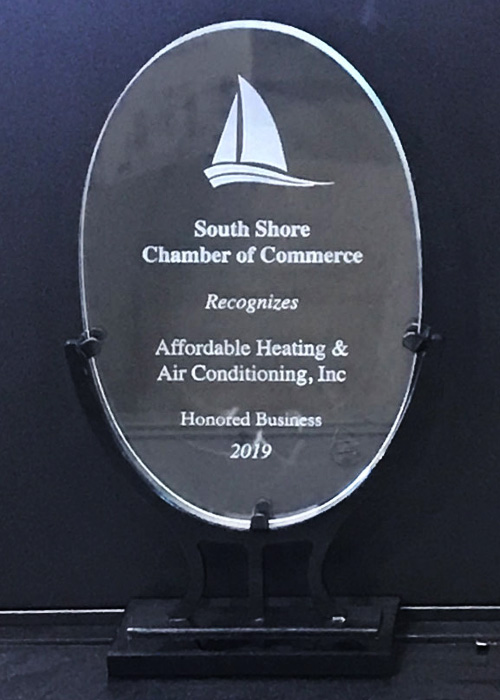 2019 Award - South Shore Chamber of Commerce