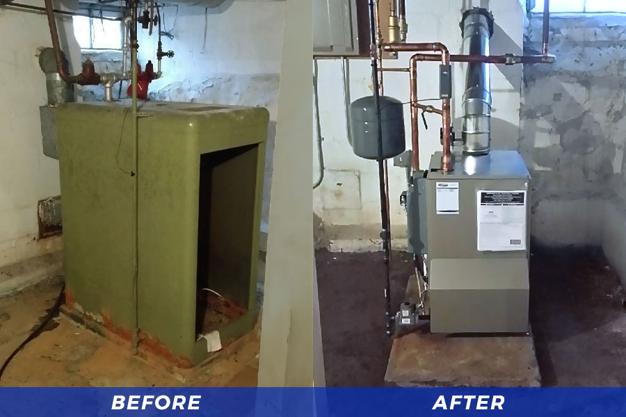 New Boiler Installation (Before & After)