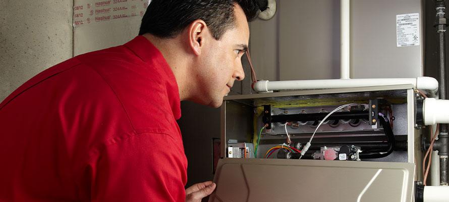 installation of hvac system by tech