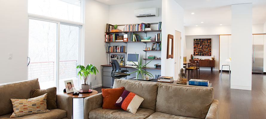 family home with ductless split system